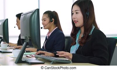 bureau, gens fonctionnement, business, casque à écouteurs, ...