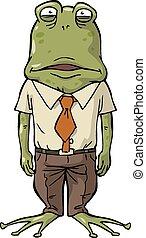 bureau, grenouille