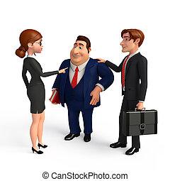bureau., groupe, professionnels