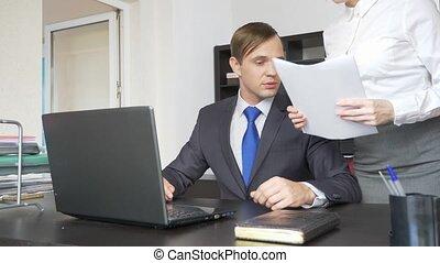 bureau., harcèlement, sexuel, 4k