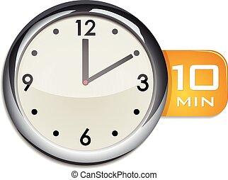10 vecteur illustration minuteur minutes minutes - Minuteur 10 minutes ...