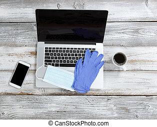 bureau, hygiène, personnel, protection, pendant, travail, pandémie, coronavirus