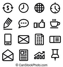 bureau, icône