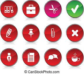 bureau, icons.