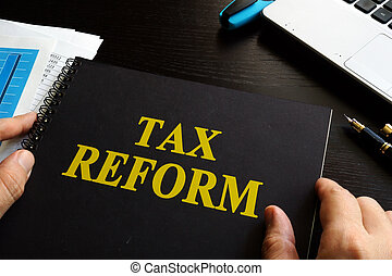 bureau, impôt, reform, desk.