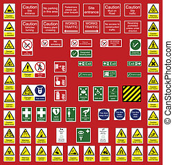bureau, industrie, signes