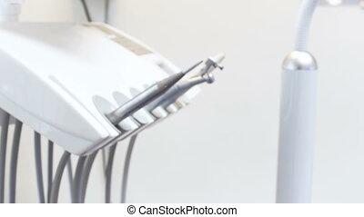 bureau, instruments, dentaire, moderne, dentiste, vidéo, 4k,...