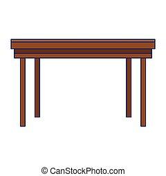 bureau, isolé, meubles bureau