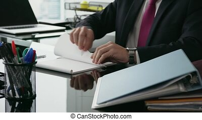 bureau, lancement, ouvrier, papier, 6, blanc, percé, collier, avion