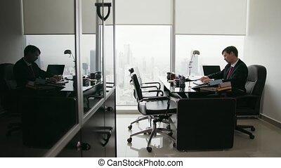 bureau, lancement, ouvrier, papier, 8, blanc, percé, collier, avion