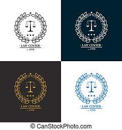 bureau, logo, firme, centre, droit & loi, conception