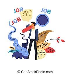 bureau, mâle, métier, recherche, endroit, candidat, vacant