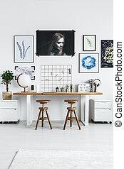 bureau maison, à, meubles modernes