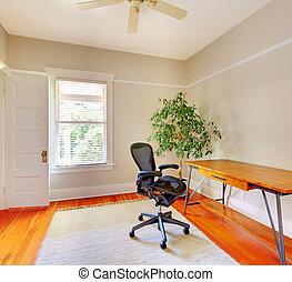 bureau maison, salle, intérieur, à, desk.