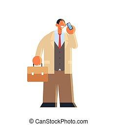 bureau, mobile, usure, valise, homme, téléphone, utilisation...