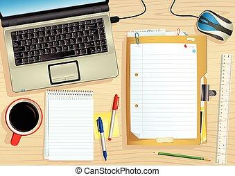 bureau, ordinateur portable