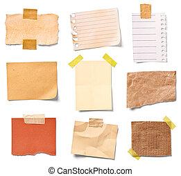 bureau, papier, business, note, vendange