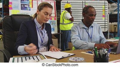 bureau, personnel, fonctionnement, 4k, entrepôt