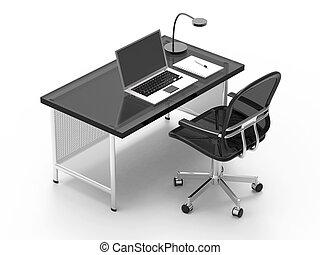 bureau, photostyle, cahier, bureau, informatique