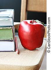 bureau, pomme