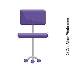 bureau, pourpre, illustration, vecteur, closeup, chaise