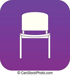 bureau, pourpre, noir, numérique, chaise, icône