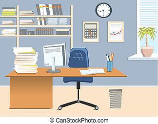 bureau, salle