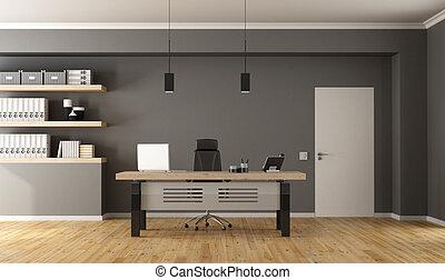 bureau, salle, contemporain