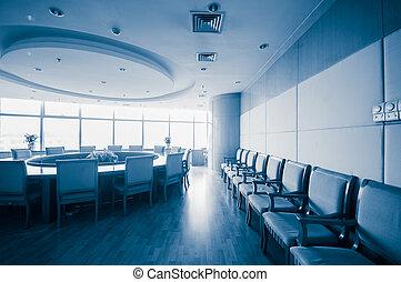 bureau, salle réunion, intérieur, moderne