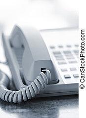 bureau, téléphone