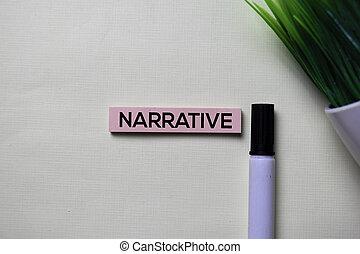 bureau, texte, notes, narrative, isolé, collant, bureau