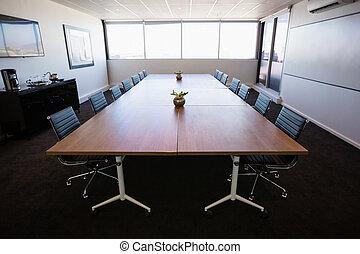 bureau vide, réunion, salle moderne