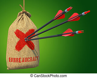 Bureaucracy - Arrows Hit in Red Mark Target.