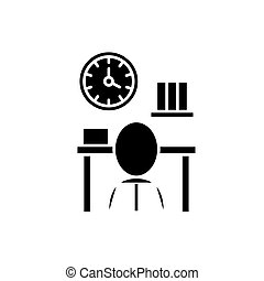 Bureaucracy black icon, vector sign on isolated background....