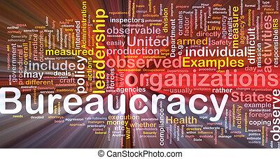 Bureaucracy is bone background concept glowing