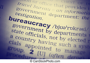 Bureaucracy Word Definition In English Dictionary Close Up
