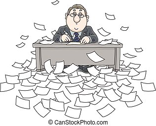 Bureaucrat with documents