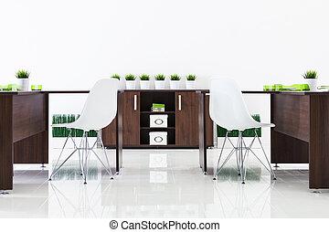 bureaux, et, plastique, chaises
