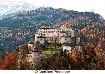burg, hohen, werfen, salzburg, österreich