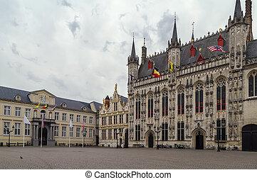 Burg square in Bruges, Belgium