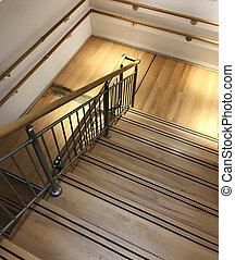burgas, 保加利亚, -, 六月, 10, 2018:, 现代, 楼梯, 在中, ikea, shop., ikea, 是, a, swedish-founded, 多国, 团体, 那, 设计, 同时,, 出售, ready-to-assemble, 家具, 同时,, 家, accessories.