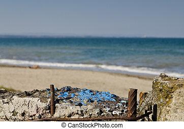 Burgas beach in Bulgaria on the black sea