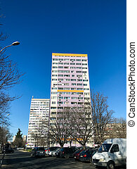 Burgas, Bulgaria - January 02, 2020: High Residential Building In The Center Of Bourgas City.