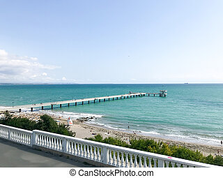 Burgas, Bulgaria - September 06, 2019: The Sea Garden is the Bulgarian port city of Burgas' largest and best known public park.