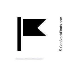Burgee flag icon on white background. Vector illustration.