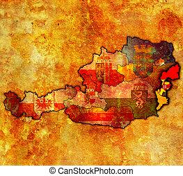 burgenland on map of austria