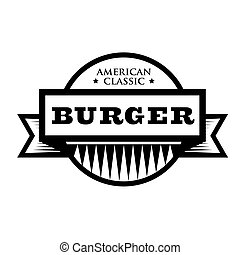 Burger - American Classic vintage stamp