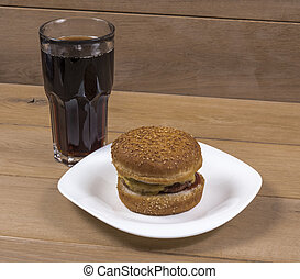 Burger and cola