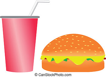 Burger and Softdrink