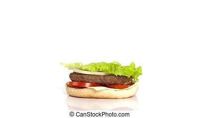 Burger Build time-lapse